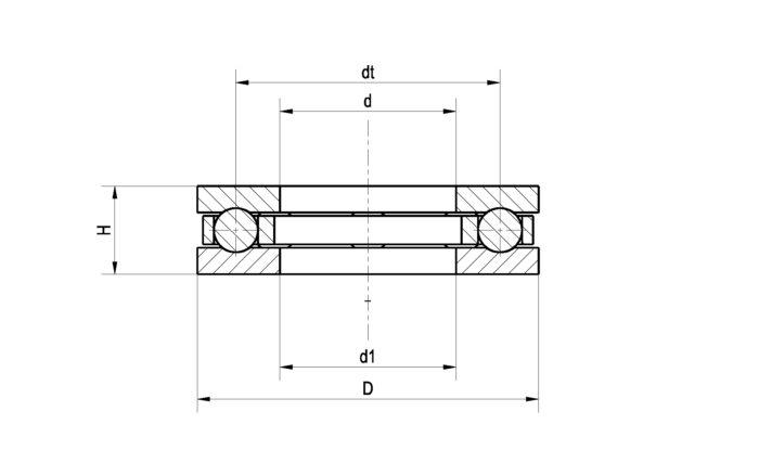 Zeichnung - Klassisches Axiallager Set