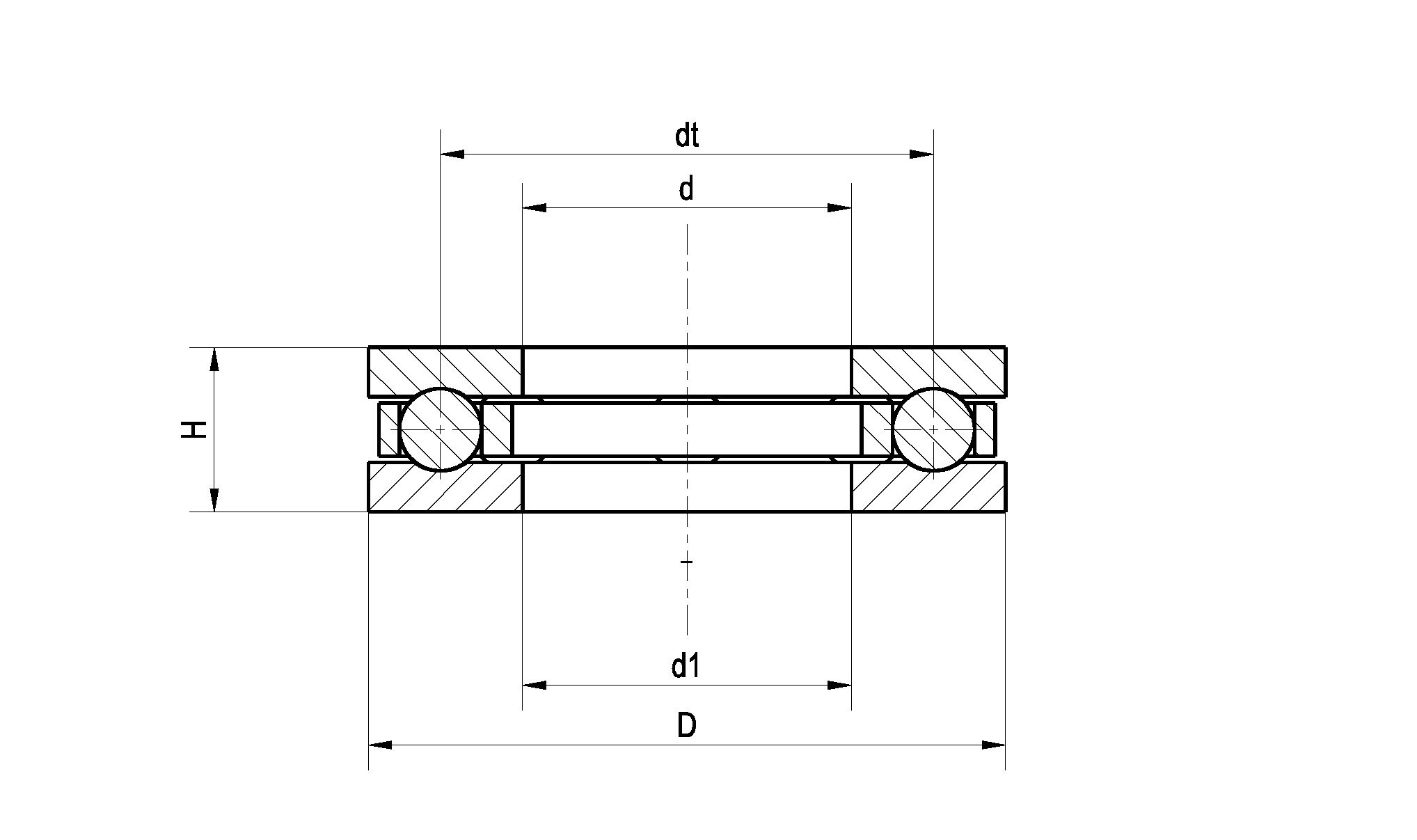 Drawing - Classic Bearing Set