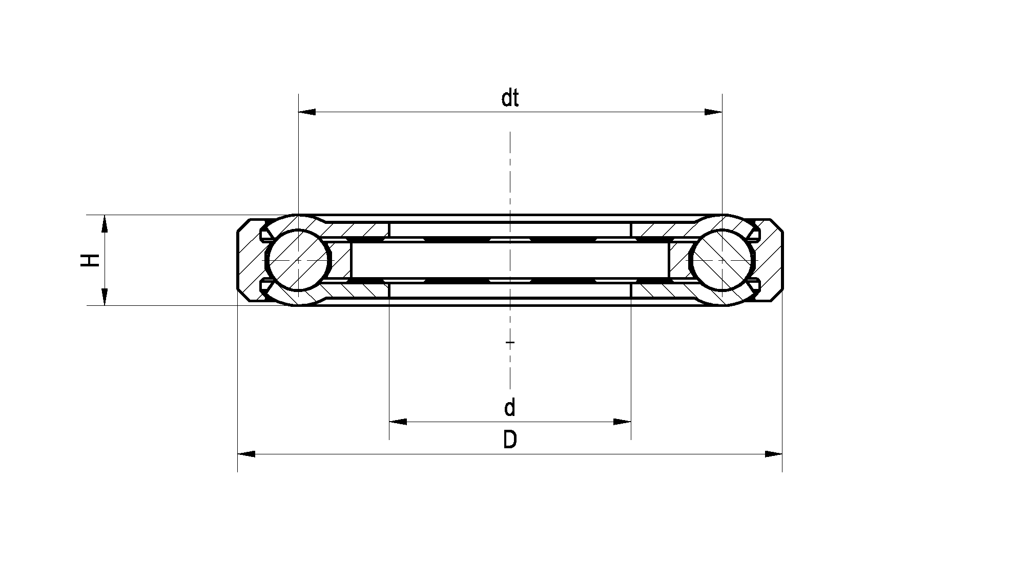 Compact Lubricated Bearing Drawing