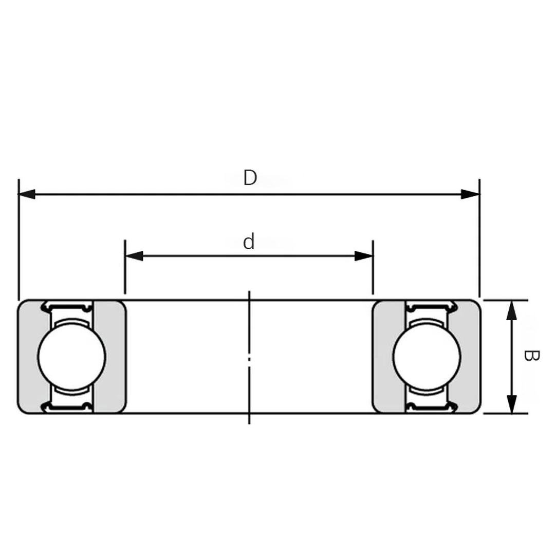 Edelstahl Radiallager Zeichnung